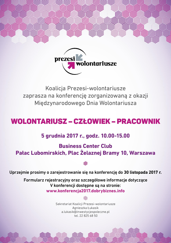 """Konferencja """"Wolontariusz-Człowiek-Pracownik"""""""